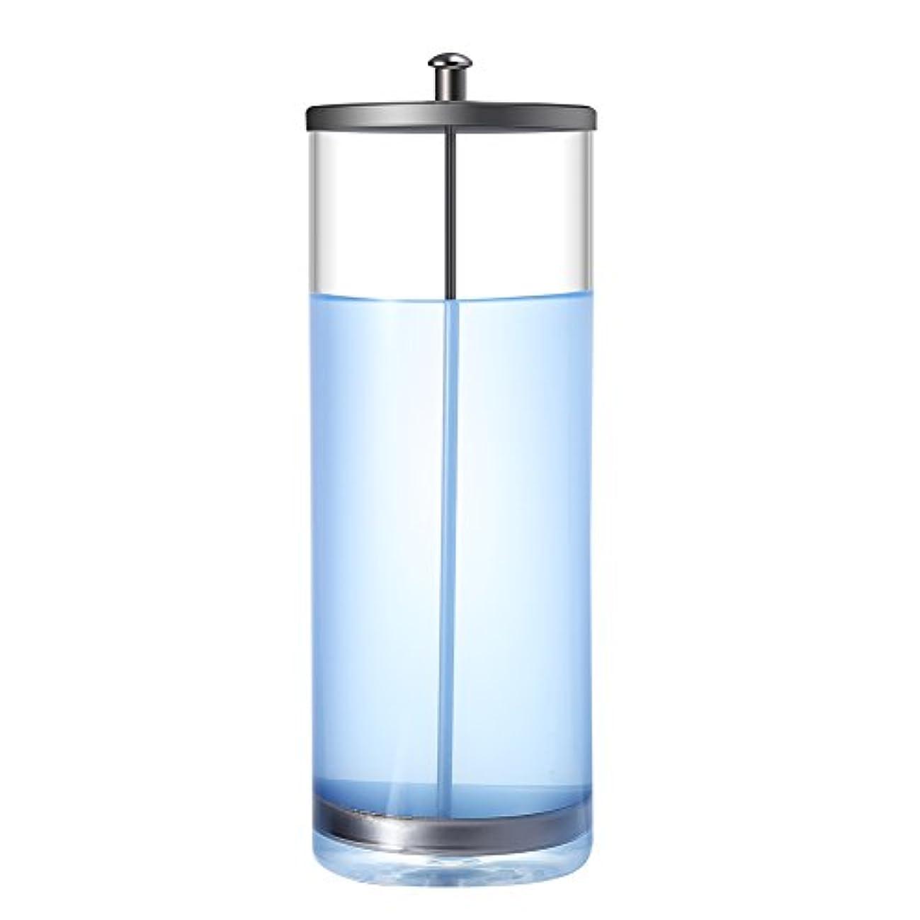 割合墓地ドライブサニタイザージャー、消毒ジャー滅菌容器サニタイザーガラスジャーマニキュアツールサロン用(9 inch)