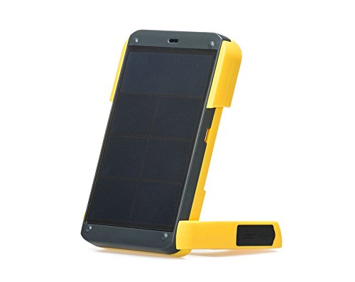 【国内正規代理店】どこでもエナジーWAKAWAKA(ワカワカ) イエロー 高効率発電パネル搭載 太陽光発電 LEDライト&iPhone/スマホ充電器