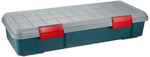 アイリスオーヤマ ボックス RVBOX 770F グレー/ダークグリーン 幅77×奥行32×高さ15.5cm