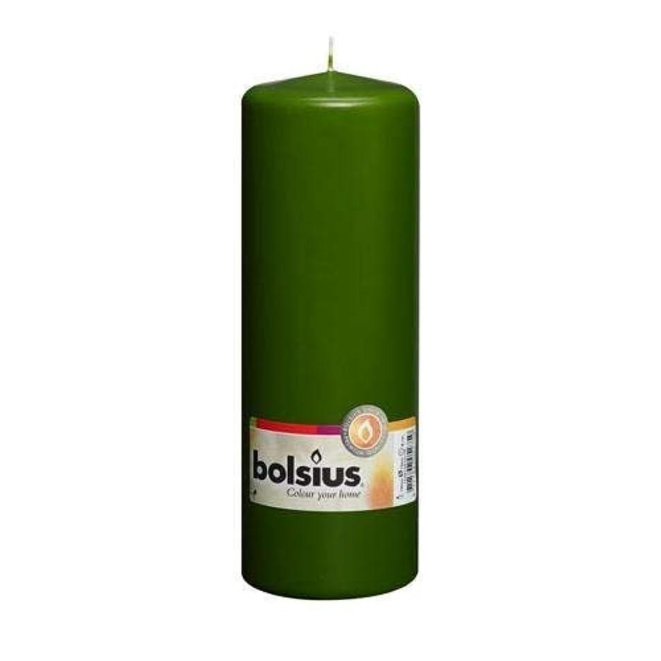 光電シリアル誤ってダークグリーンPillar Candle – 20 cm x 7 cm