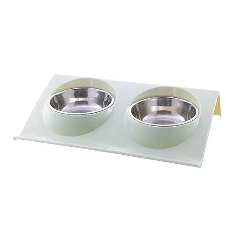 Tenflyer ペット用品ステンレス鋼犬のボウル猫子犬非スリップ食品水二重供給皿