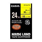 カシオ ネームランドテープ XR-24JYW 00038737【まとめ買い3個セット】