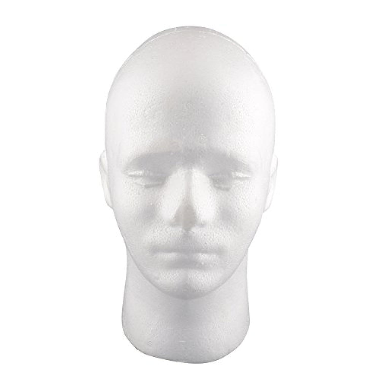Kicode モデル表示 発泡スチロールのマネキンヘッド ウィッグハットホルダー (男性)