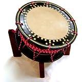【舞台用太鼓】赤牛皮 締め太鼓 直径35cm 台付き