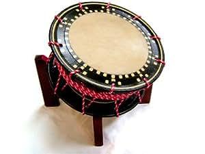 【舞台用太鼓】水牛皮 締め太鼓 直径36cm 台付き