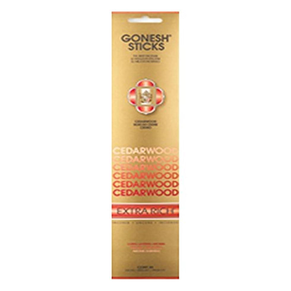教義住所滴下Gonesh Incense Extra rich-シダーウッド( 20 Sticks in 1パック) 2208220