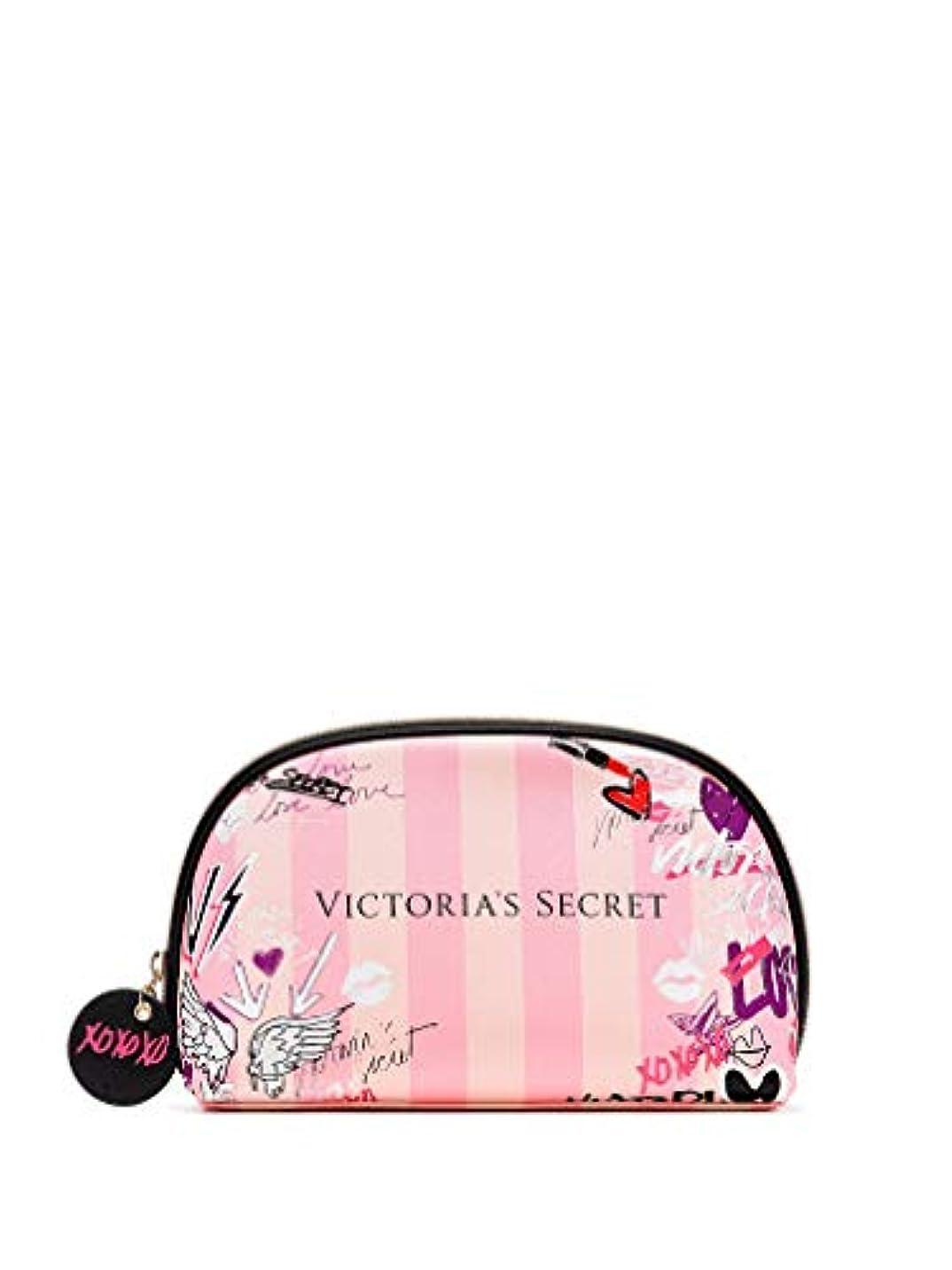 シャンパン月曜日お酢【 メイクアップバッグ 】 VICTORIA'S SECRET ヴィクトリアシークレット/ビクトリアシークレット グラフィティグラムバッグ/Graffiti Glam Bag [並行輸入品]