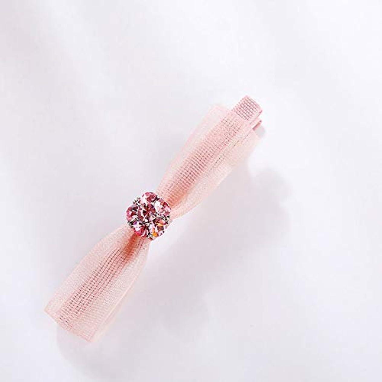 デンマーク語継承温帯HPYOD HOME ファッションロゼットヘアピン便利なヘアクリップ女性結婚式のアクセサリー(ピンク)ヘアピン