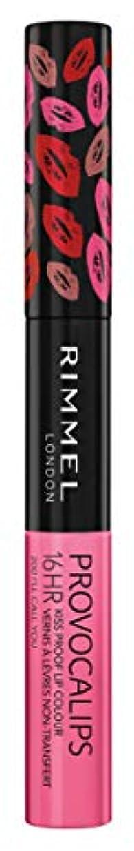 君主制大型トラック大砲RIMMEL LONDON Provocalips 16Hr Kissproof Lip Colour - I'll Call You (並行輸入品)