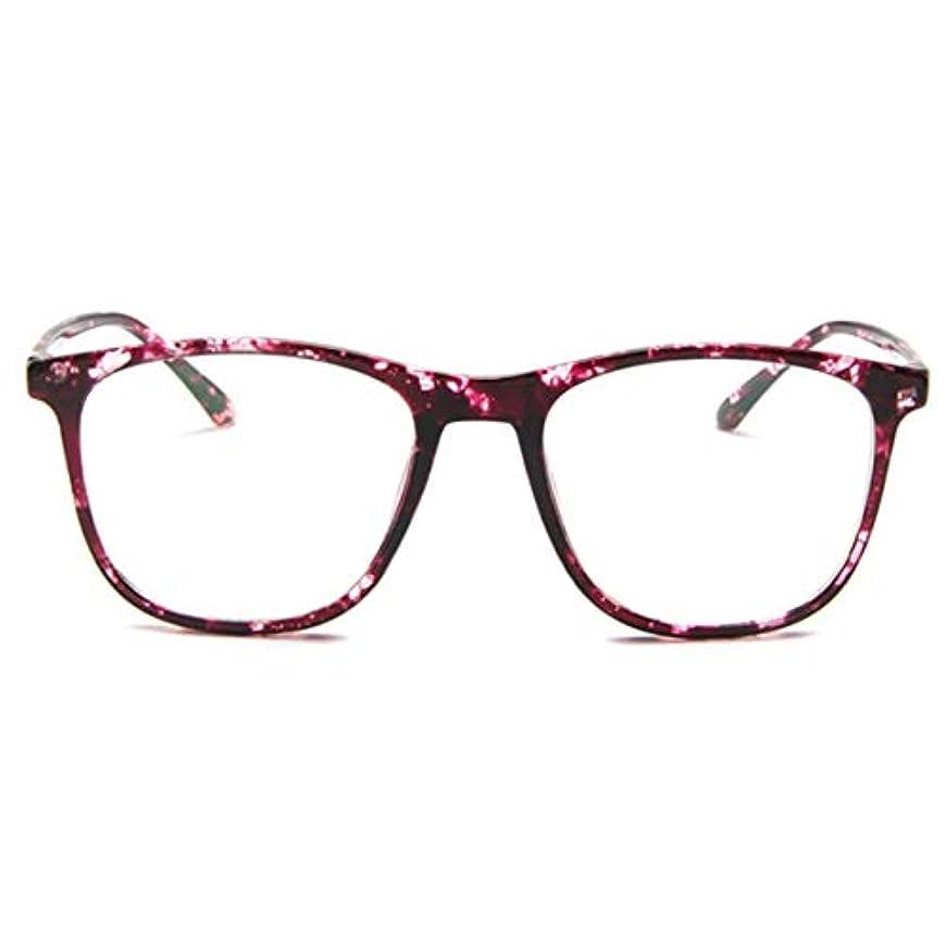 極地ギネスデッドロック韓国の学生のプレーンメガネ男性と女性のファッションメガネフレーム近視メガネフレームファッショナブルなシンプルなメガネ-パープル