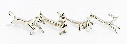 【 国産 】 おしゃれ で かわいい ナイフレスト 兼用 箸置き 4種 × 5セット   ナイフ & フォーク レスト   馬 猫 鹿 犬