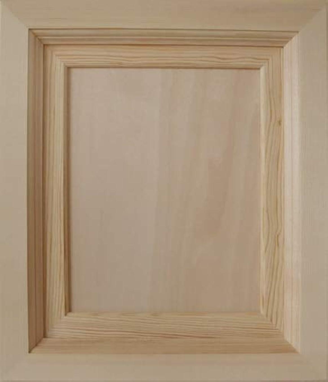 第四適合する分析的な無塗装木製マット付額縁 3号Fサイズ 263×210 cw-1014