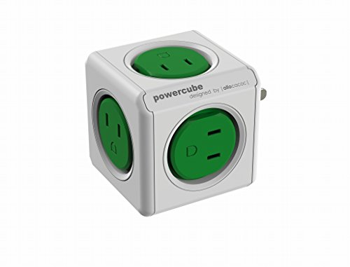 POWER CUBE キューブ型 電源タップ 5個口 緑 4190/JPORPC