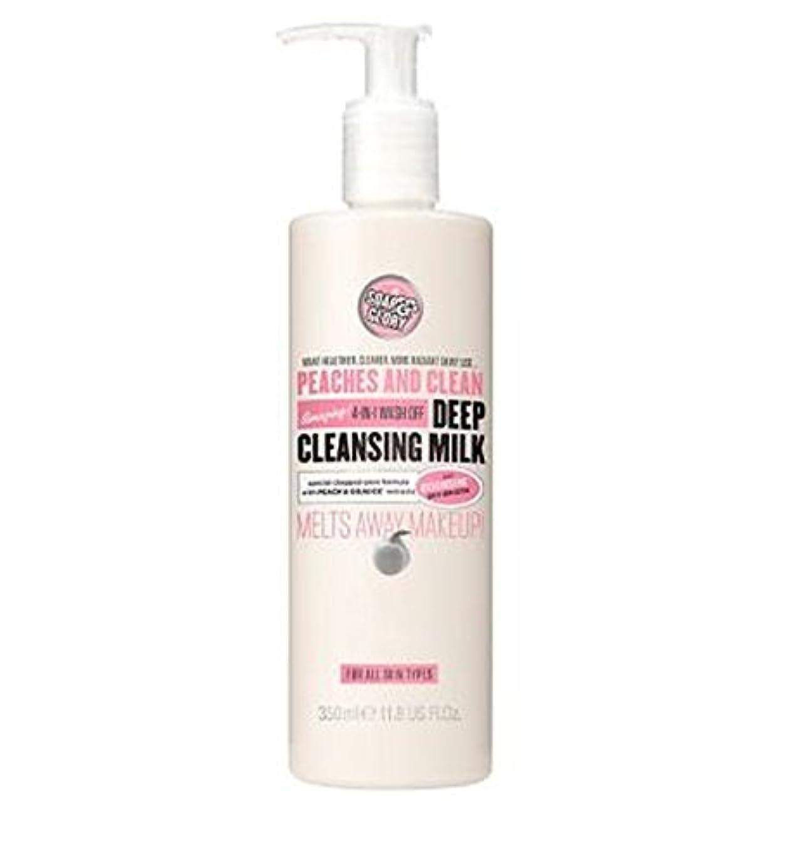 テスピアングローブ生物学PEACHES AND CLEAN? Deep Cleansing Milk 350ml - 桃やクリーン?ディープクレンジングミルク350ミリリットル (Soap & Glory) [並行輸入品]