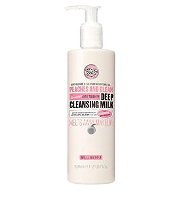 促す水素議題PEACHES AND CLEAN? Deep Cleansing Milk 350ml - 桃やクリーン?ディープクレンジングミルク350ミリリットル (Soap & Glory) [並行輸入品]