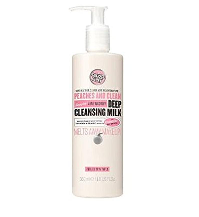 不合格美徳キャップPEACHES AND CLEAN? Deep Cleansing Milk 350ml - 桃やクリーン?ディープクレンジングミルク350ミリリットル (Soap & Glory) [並行輸入品]