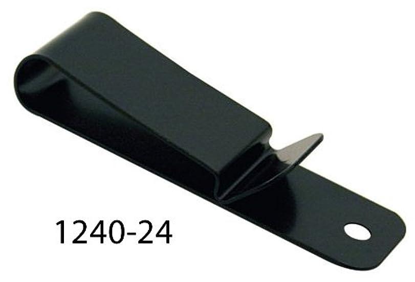ために束ねる騒tandy LEATHER製 レザークラフト材料 革 道具 金具 ミディアムベルトクリップ(2.2cm×7.6cm)1個入 カラー2種類 Spring Belt/Holster Clip 1240-24) ブラック