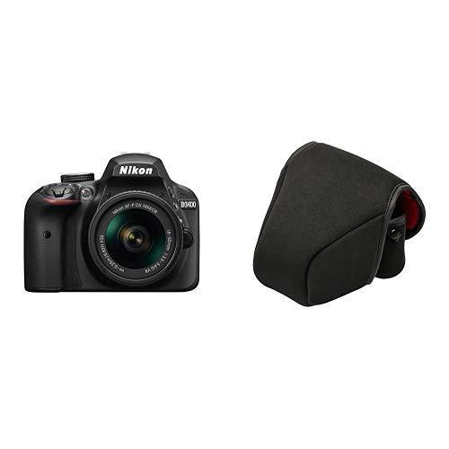Nikon デジタル一眼レフカメラ D3400 AF-P 18-55 VR レンズキット ブラック D3400LKBK+Kenko カメラケース カメラプロテクターMAMORU NEO S 生地厚8mm 704561 セット