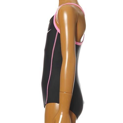 NIKE(ナイキ) ジュニア(キッズ・子供)女子(女の子)スイミングスクール水着(1981401)ブラックXピンク160cm