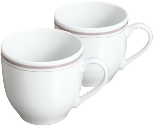 山津製陶 ダイアセラム(高度強化磁器) イングレーズ パーチメント ペアマグカップ 10-7-14(2P)