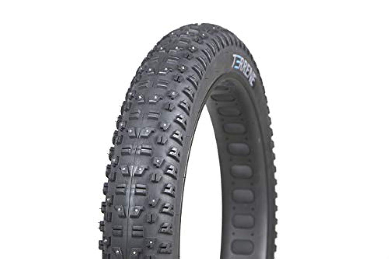 バンドル剛性良心的Terrene Tires Wazia チューブレスファットバイクタイヤ (26x4.6 - ライト、スタッド付き)