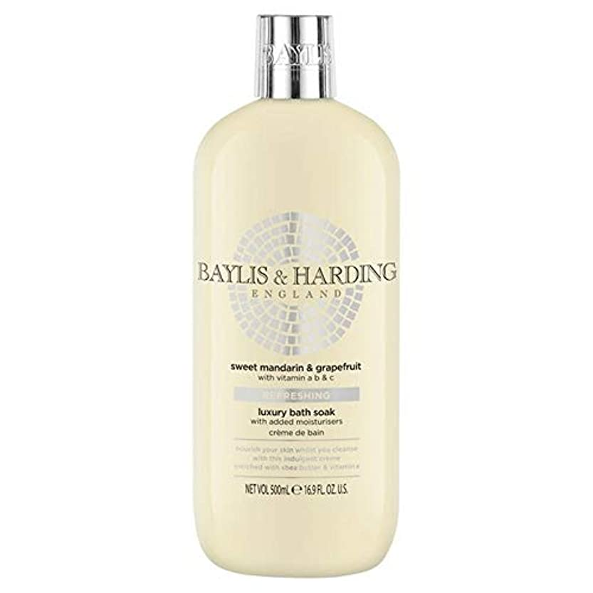 マーティフィールディング溶ける怪しい[Baylis & Harding ] ベイリス&ハーディング甘いマンダリン&グレープフルーツ保湿入浴500ミリリットルつかります - Baylis & Harding Sweet Mandarin & Grapefruit Moisturising Bath Soak 500ml [並行輸入品]