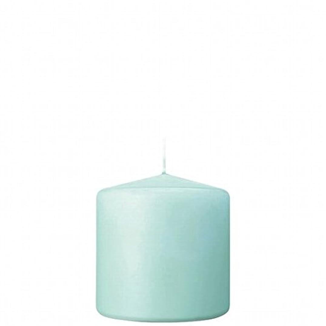 令状ご覧ください童謡kameyama candle(カメヤマキャンドル) 3×3ベルトップピラーキャンドル 「 ライトブルー 」(A9730000LB)