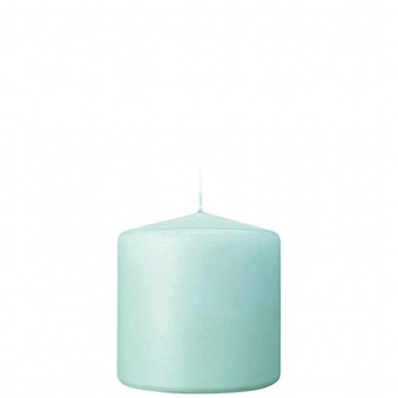 隣人漁師指定kameyama candle(カメヤマキャンドル) 3×3ベルトップピラーキャンドル 「 ライトブルー 」(A9730000LB)
