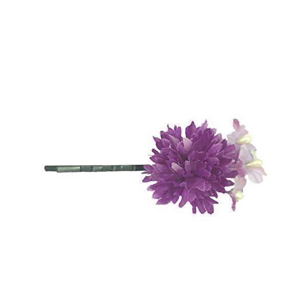 [粋花] Suika フラワーピン 4063 パープルの商品画像
