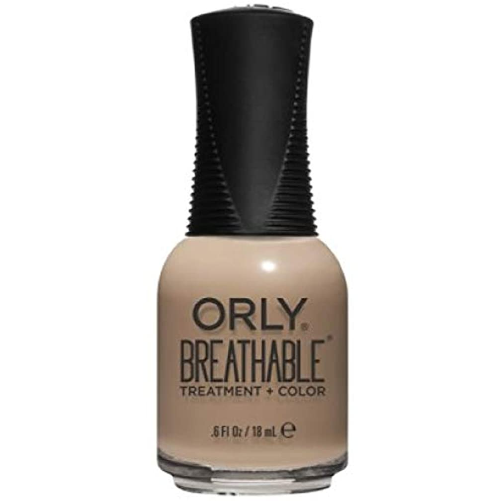ユーモラス疑い者忘れるOrly Breathable Nail Lacquer - Treatment + Color - Bare Necessity - 0.6 oz / 18 mL