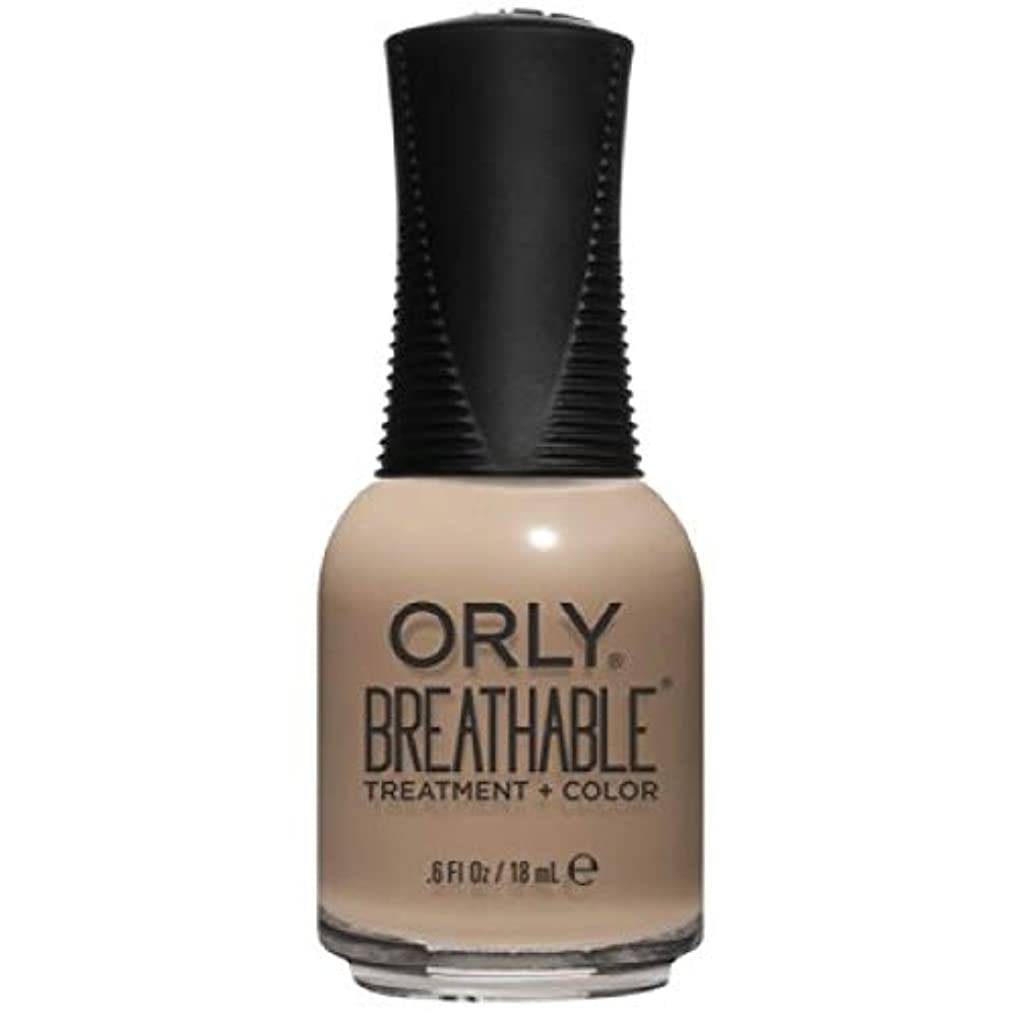 アレルギー性シャツかりてOrly Breathable Nail Lacquer - Treatment + Color - Bare Necessity - 0.6 oz / 18 mL