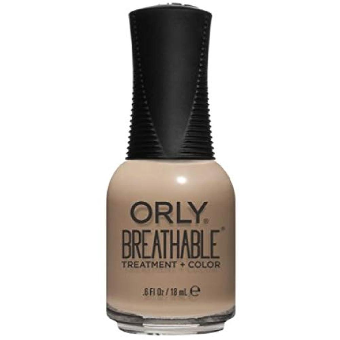 事実乳お勧めOrly Breathable Nail Lacquer - Treatment + Color - Bare Necessity - 0.6 oz / 18 mL