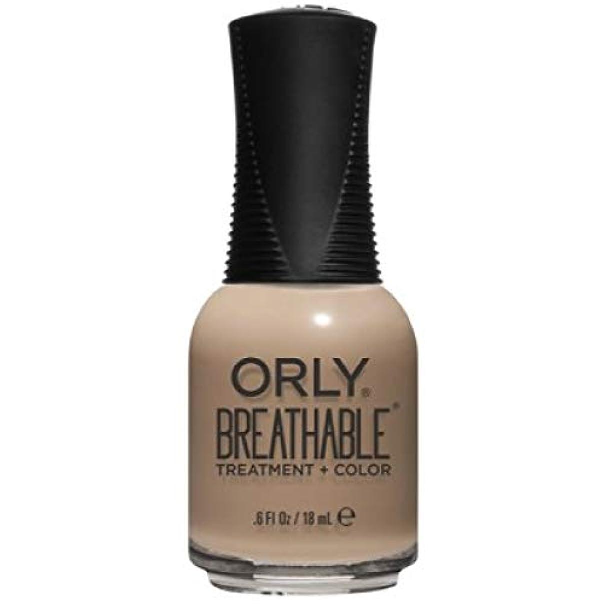 凝縮する理解実行可能Orly Breathable Nail Lacquer - Treatment + Color - Bare Necessity - 0.6 oz / 18 mL