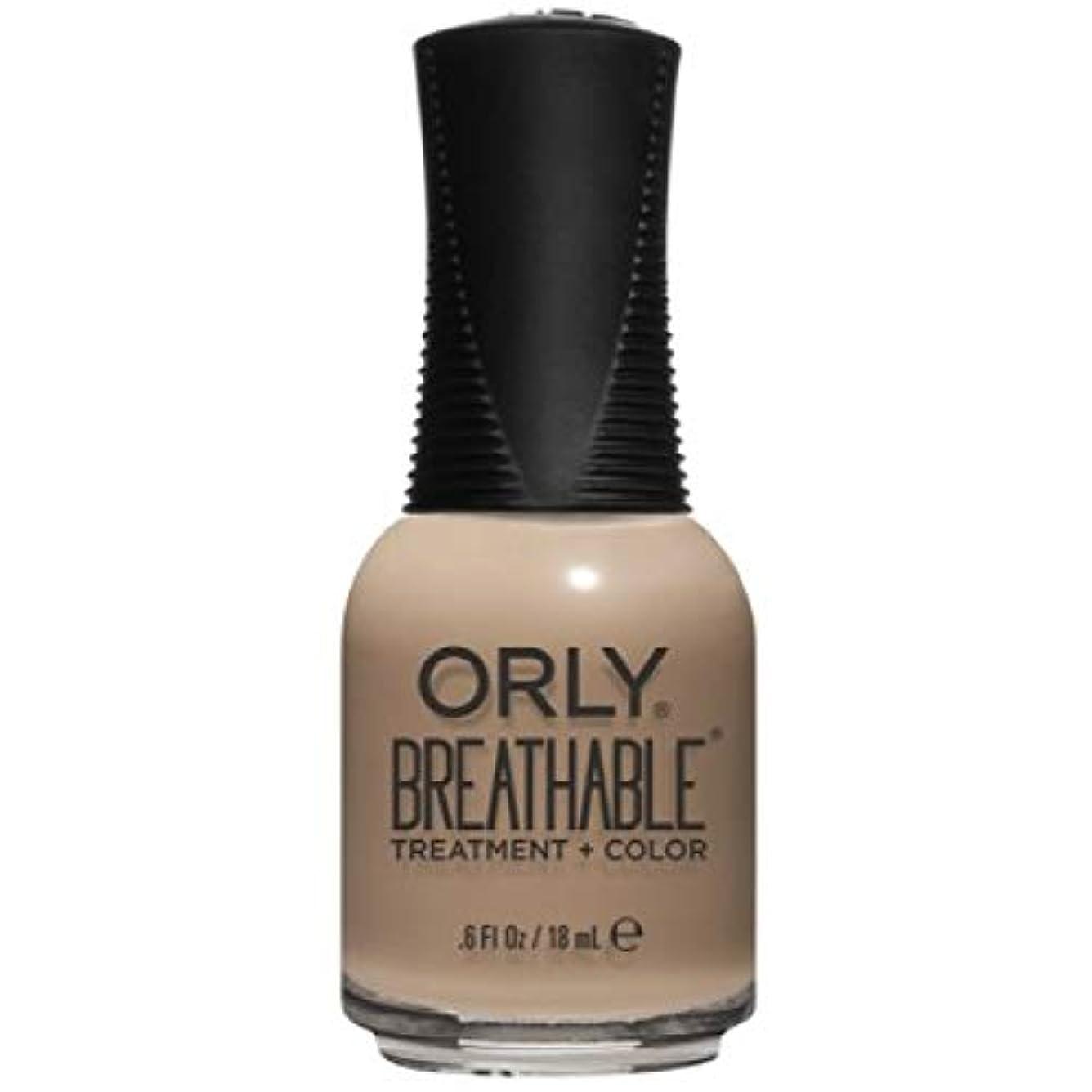 発明調停者規模Orly Breathable Nail Lacquer - Treatment + Color - Bare Necessity - 0.6 oz / 18 mL