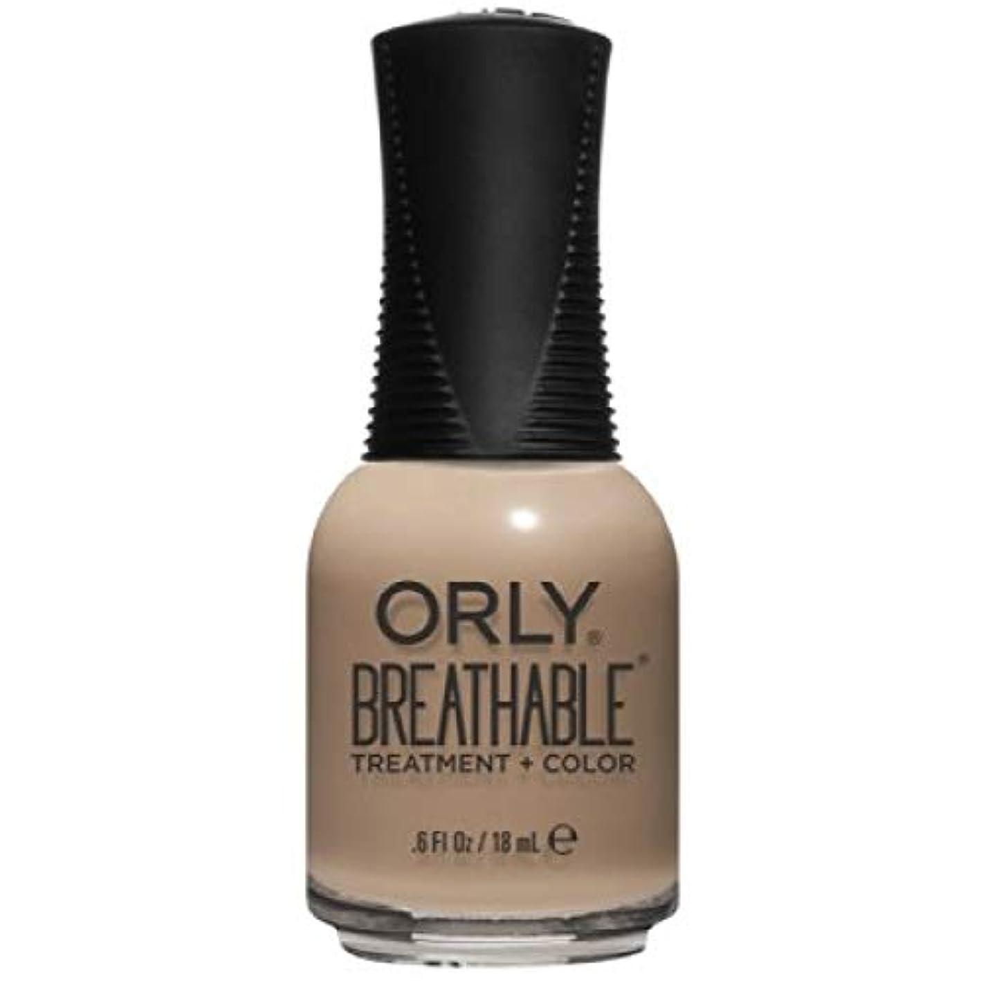 同盟迅速率直なOrly Breathable Nail Lacquer - Treatment + Color - Bare Necessity - 0.6 oz / 18 mL
