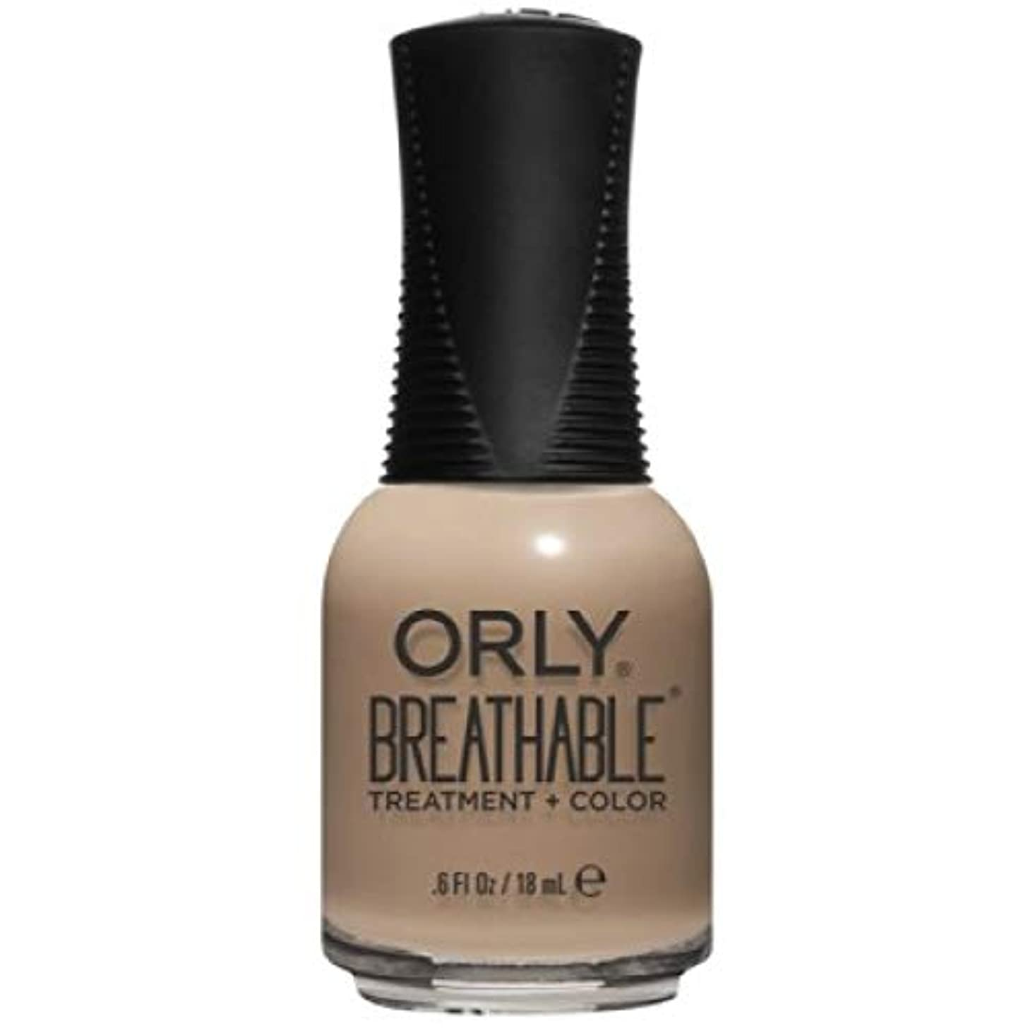 ビン解決フォージOrly Breathable Nail Lacquer - Treatment + Color - Bare Necessity - 0.6 oz / 18 mL