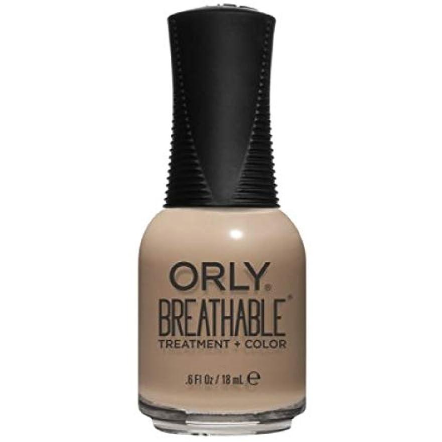 はっきりと修正するバッチOrly Breathable Nail Lacquer - Treatment + Color - Bare Necessity - 0.6 oz / 18 mL
