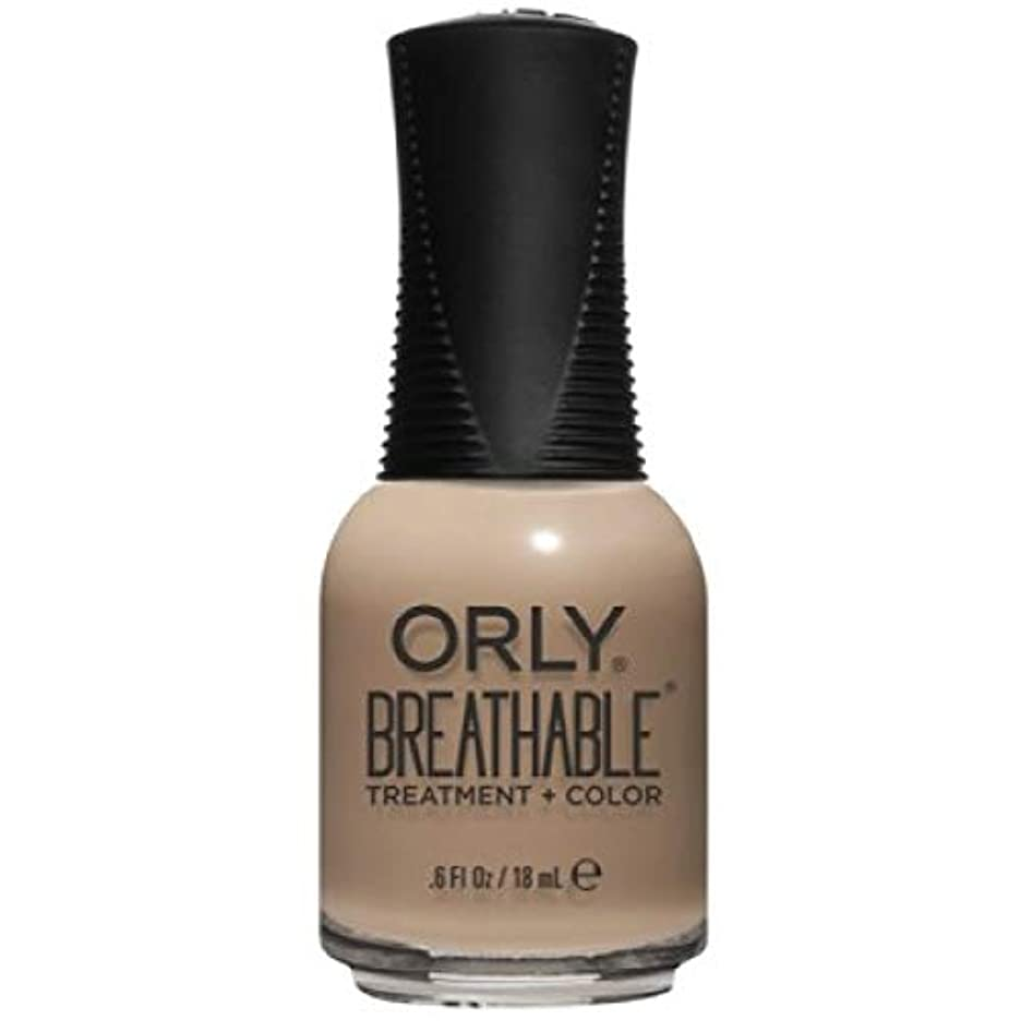 量シチリア簿記係Orly Breathable Nail Lacquer - Treatment + Color - Bare Necessity - 0.6 oz / 18 mL