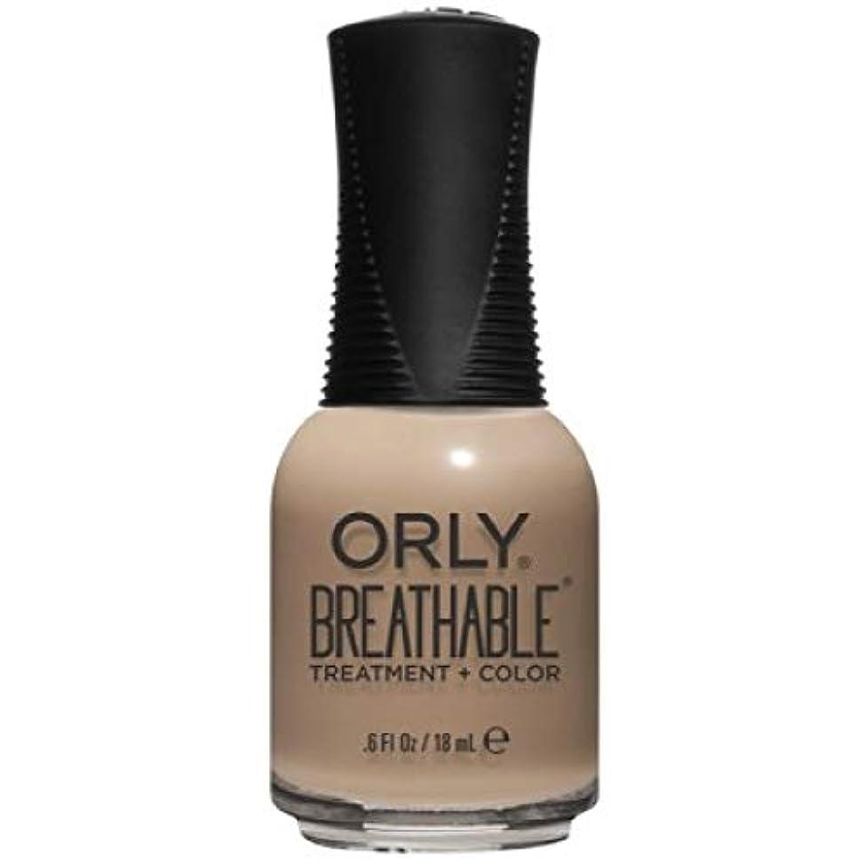 任意穀物スカリーOrly Breathable Nail Lacquer - Treatment + Color - Bare Necessity - 0.6 oz / 18 mL