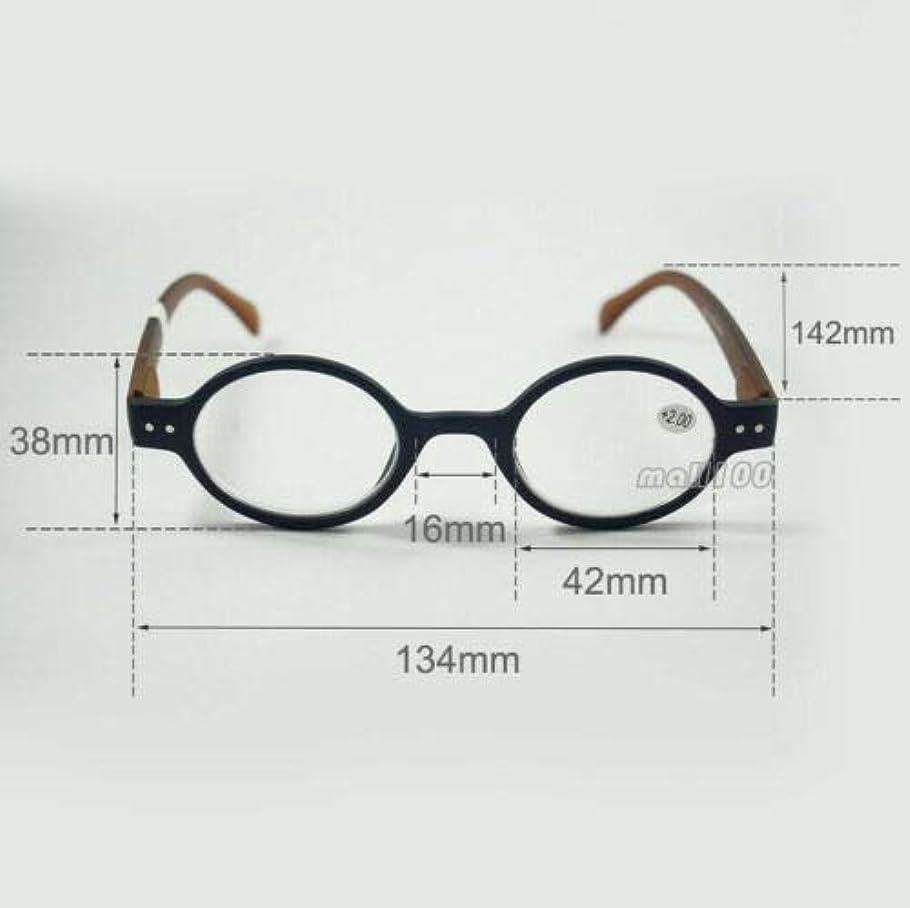 FidgetGear ラウンドプラスチックレトロ老眼鏡フルフレームユニセックスブラックブラウンヒョウ赤 ブラック