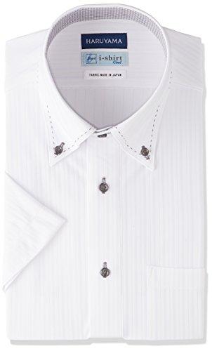 (はるやま) HARUYAMA i-shirt 完全ノーアイロン 半袖 ボタンダウンアイシャツ M162180026 01 ホワイト S(首回り38cm)