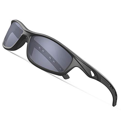 dbcc9abbb5899a Torege 偏光レンズ サングラス 超軽量フレームTR90 UV400 紫外線カット 抗衝撃 男女兼用 スポーツ