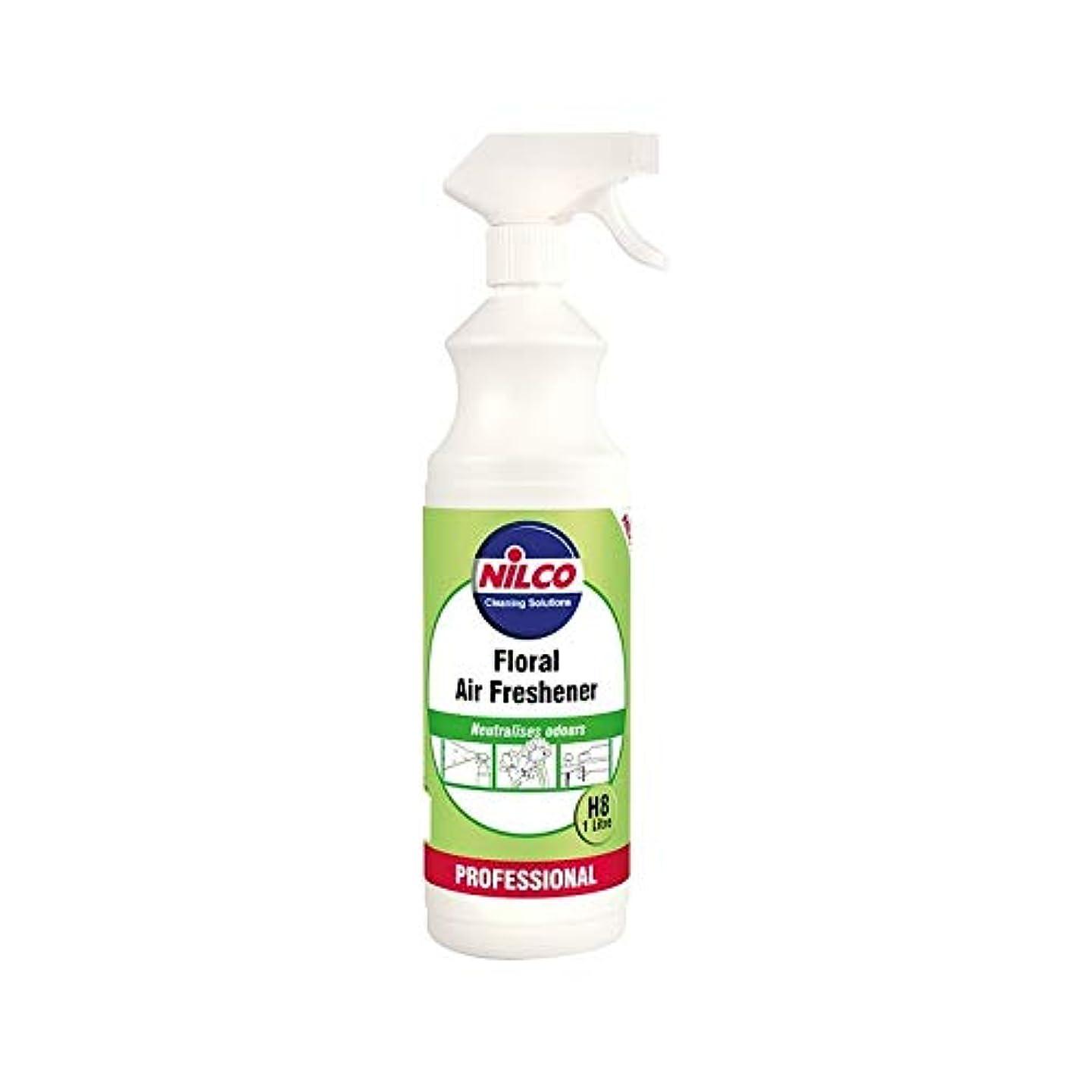 散髪精神プライム[Nilco] Nilcoプロの花のエアフレッシュナーH8の1リットル - Nilco Professional Floral Air Freshener H8 1L [並行輸入品]