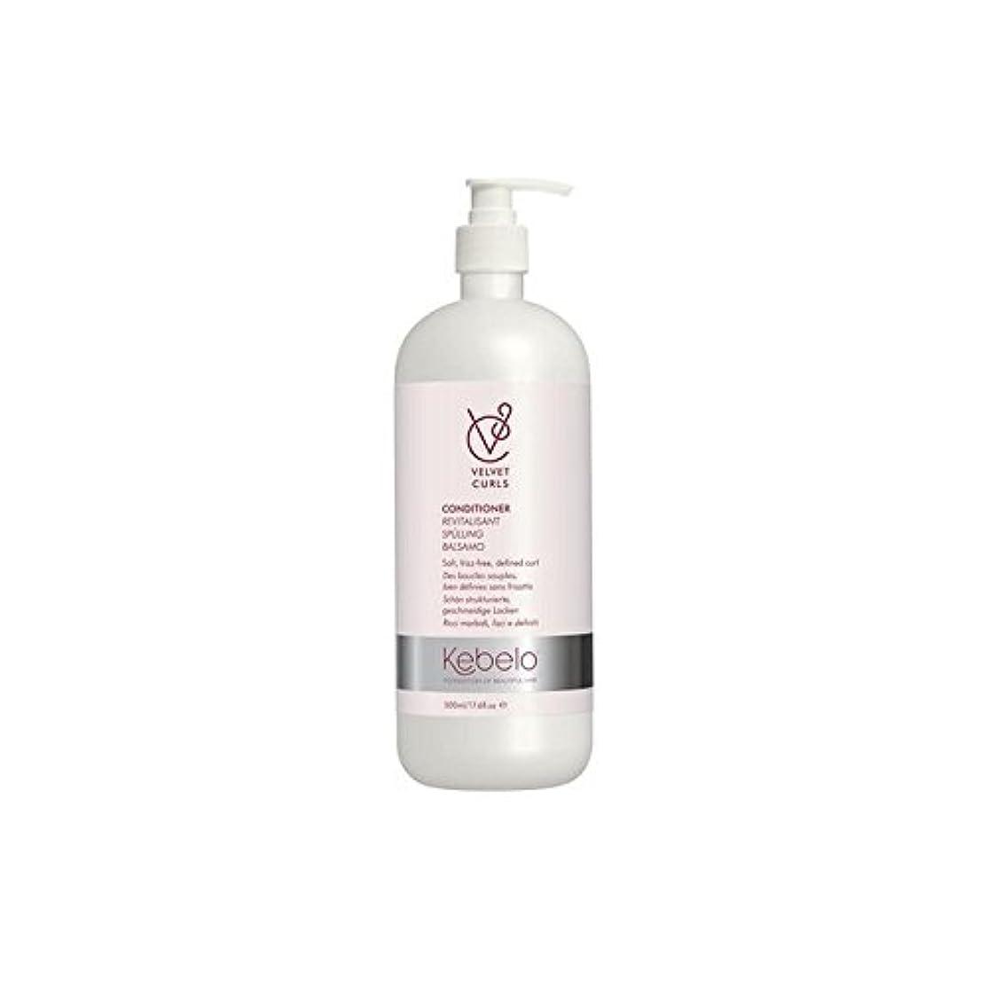 制限眩惑するロイヤリティKebelo Velvet Curls Conditioner (500ml) (Pack of 6) - ベルベットのカールコンディショナー(500ミリリットル) x6 [並行輸入品]