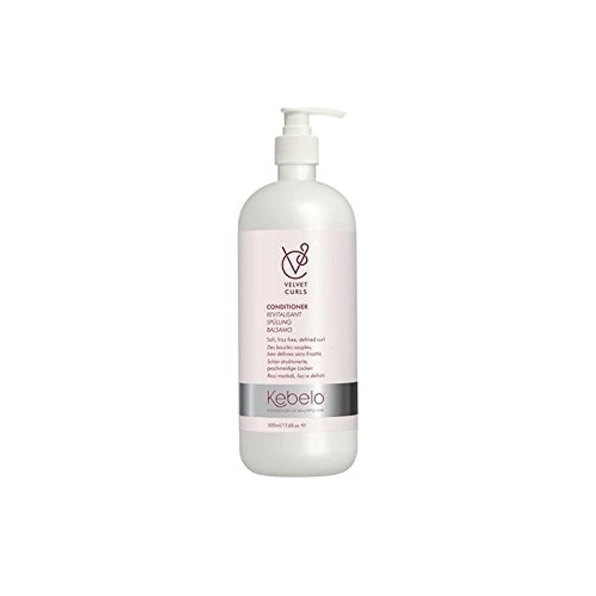 腫瘍選択する動物Kebelo Velvet Curls Conditioner (500ml) (Pack of 6) - ベルベットのカールコンディショナー(500ミリリットル) x6 [並行輸入品]