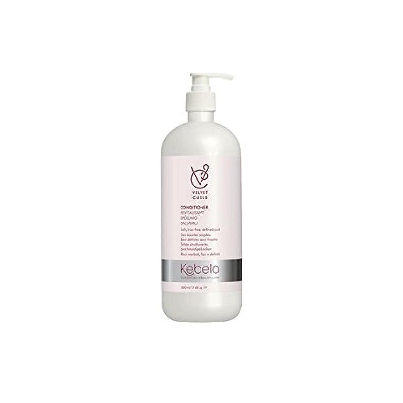 原理おもてなしパテKebelo Velvet Curls Conditioner (500ml) (Pack of 6) - ベルベットのカールコンディショナー(500ミリリットル) x6 [並行輸入品]