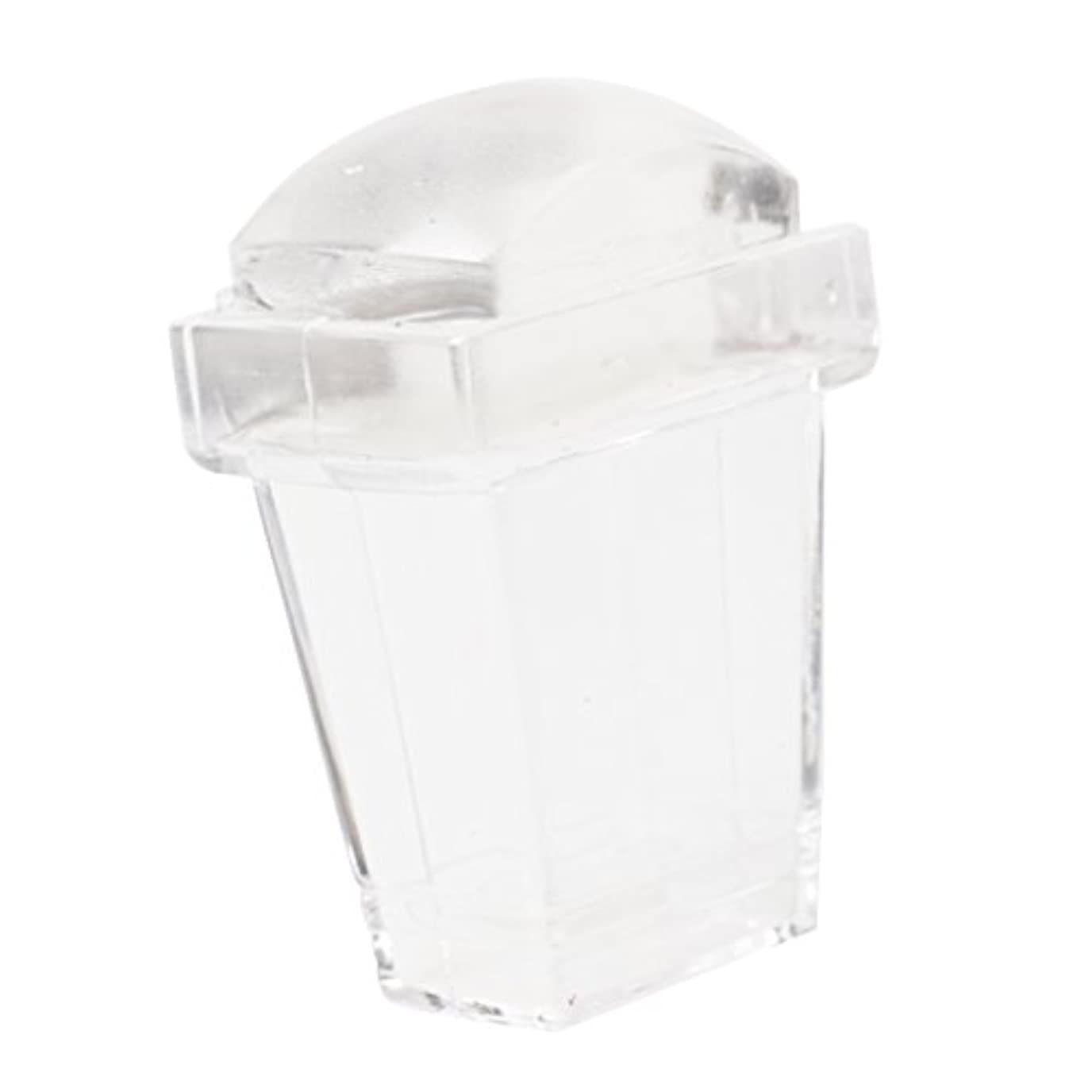 KOZEEY 正方形 ネイルアート スタンパー スクレイピング スクレーパー ツール 透明