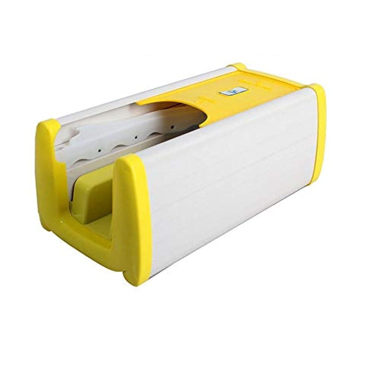 ティッシュサイドボード海港家庭用靴カバーマシン連続自動靴カバーマシンドラッグ型オーバーシューズマシンホームオフィス自己使用の小さな環境保護 (Color : Yellow)
