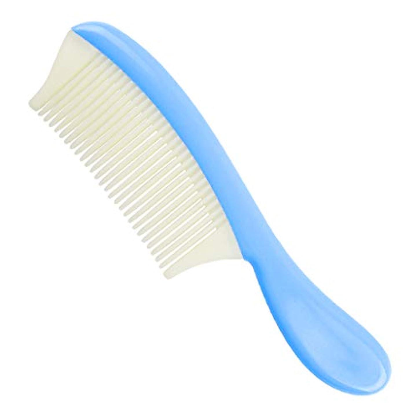 オーク制限血色の良いB Blesiya 細かい歯 ヘアコーム ヘアブラシ 全4色 - 青