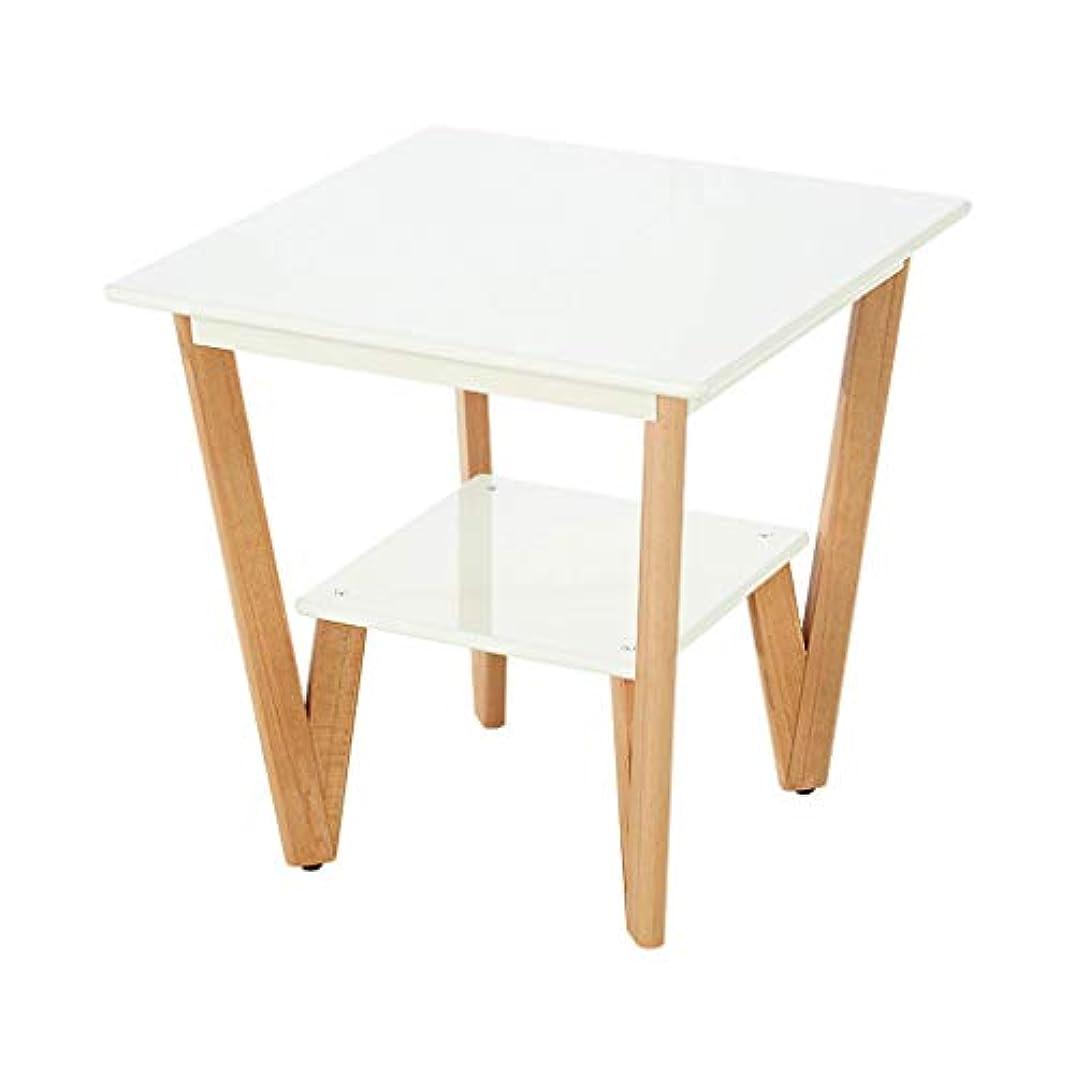 悲鳴はちみつ絶望HY 小さなコーヒーテーブル二階建て正方形ミラーソリッドウッドの家小さなスクエアテーブル